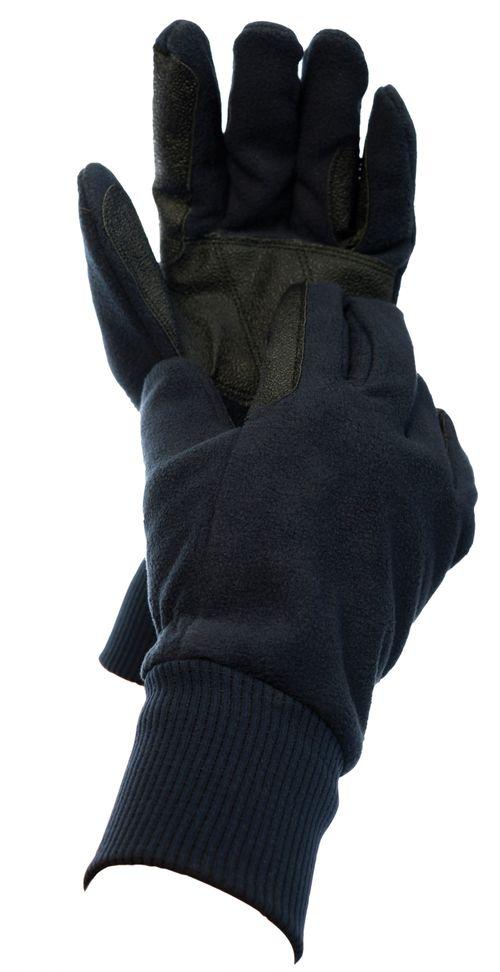 Dublin Everyday Showerproof Polar Fleece Riding Gloves - Black