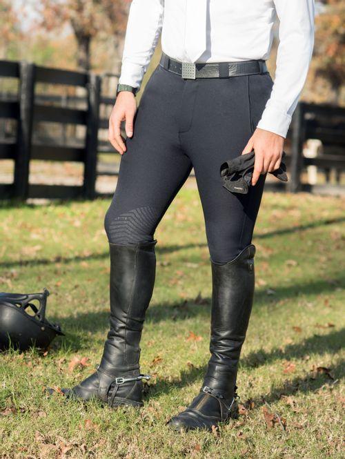 FITS Men's Hudson Knee Patch Breech - Black