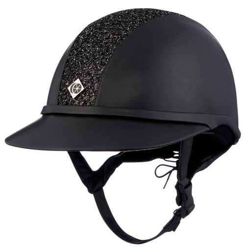 Charles Owen Leather Look SP8 Plus Helmet - Black with Sparkly Center