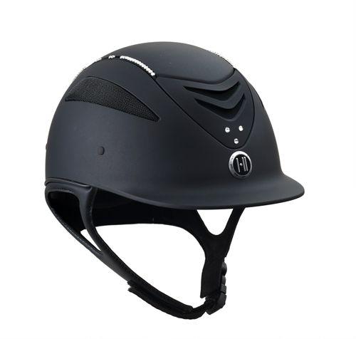 One K Defender w/Swarovski Helmet - Black w/Clear Stones