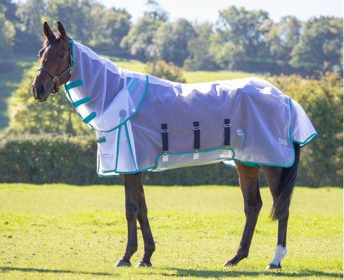 Highlander Fine Mesh Detachable Neck Fly Sheet - White
