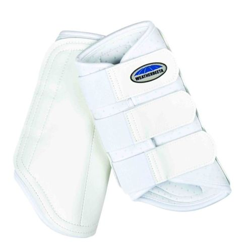 Weatherbeeta Single Lock Brushing Boots - White