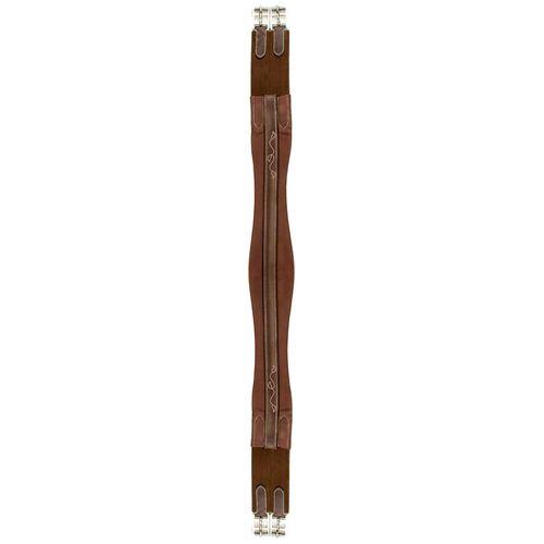 Silverleaf Fancy Chafeless Girth with Dual Elastic Ends - African Walnut