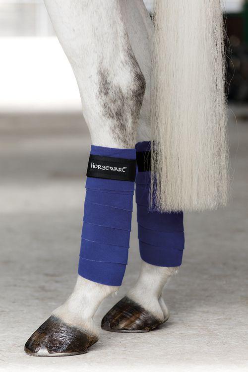 Horseware Four Pack Fashion Fleece Bandages - Royal Blue/Silver