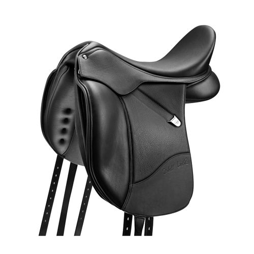 Bates Isabell Luxe Leather Dressage Saddle - Classic Black