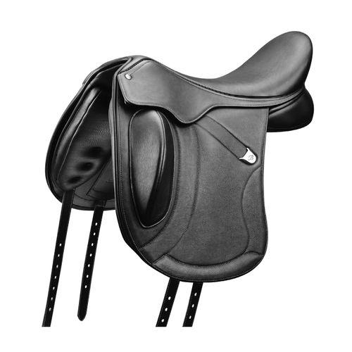 Bates Innova Mono Luxe Leather Dressage Saddle - Classic Black
