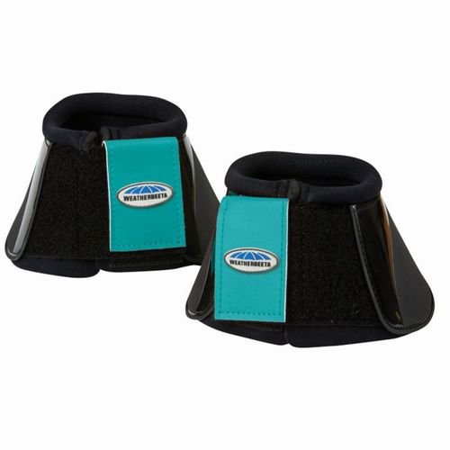 Weatherbeeta Impact Bell Boots - Black/Turquoise