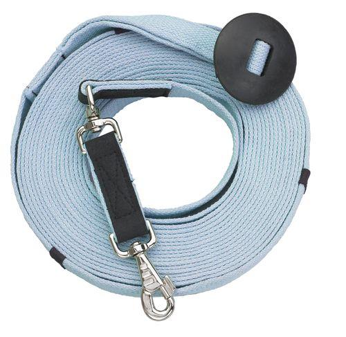 Centaur Cotton Web 35ft Lunge w/Donut - Ice Blue