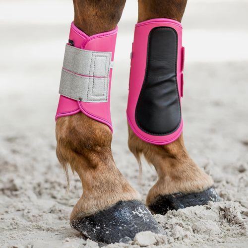 Horze Thun Brushing Boots - Shocking Pink
