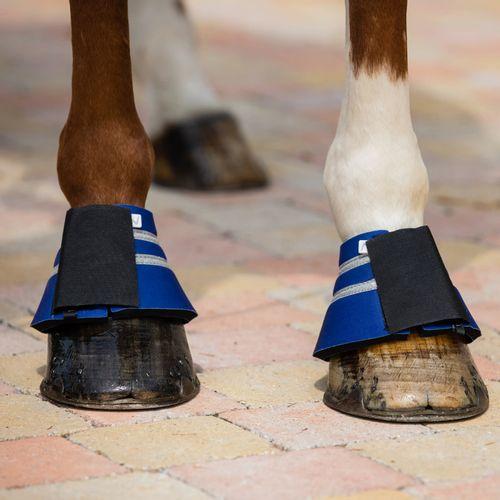 Horze Thun Bell Boots - Mazarine Blue
