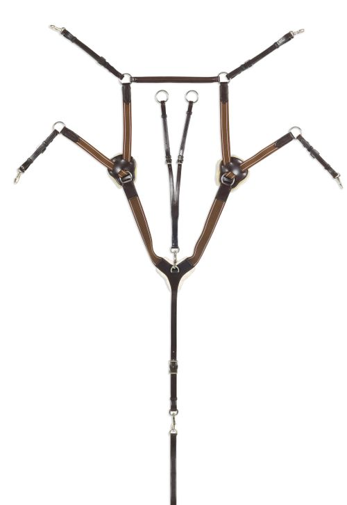Ovation Classic 5 Point Breastplate - Brown