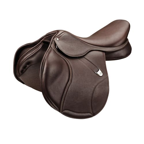 Bates Elevation Luxe Leather Deep Seat Jump Saddle - Classic Brown