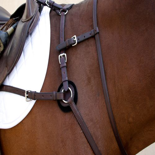 Nunn Finer Breastplate Attachment with Neck Strap - Havana/Zinc