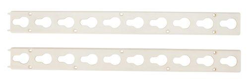 Roma Plastic Keyhole Track Pair - White