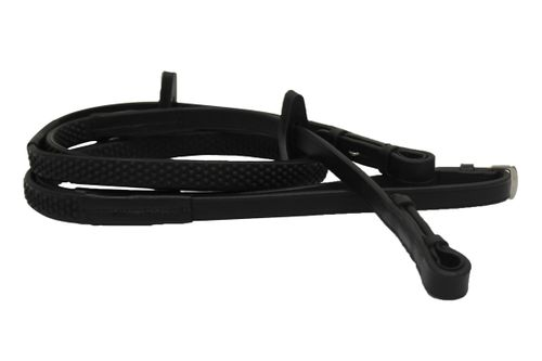 Rambo Micklem Competition Reins - Black