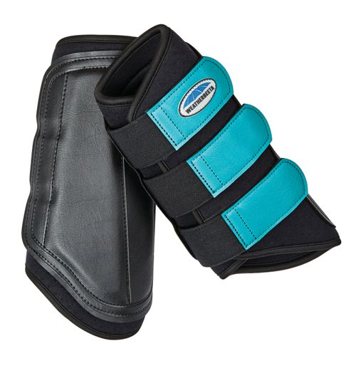 Weatherbeeta Single Lock Brushing Boots - Black/Turquoise