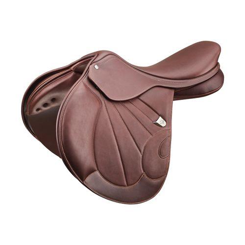 Bates Victrix Jump Saddle - Havana Brown/Brown