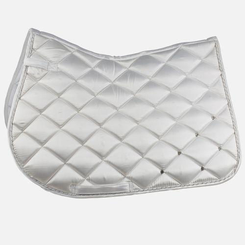 Horze Radiance Satin Crystal All Purpose Saddle Pad - White