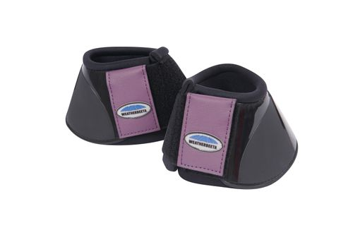 Weatherbeeta Impact Bell Boots - Black/Purple Penant
