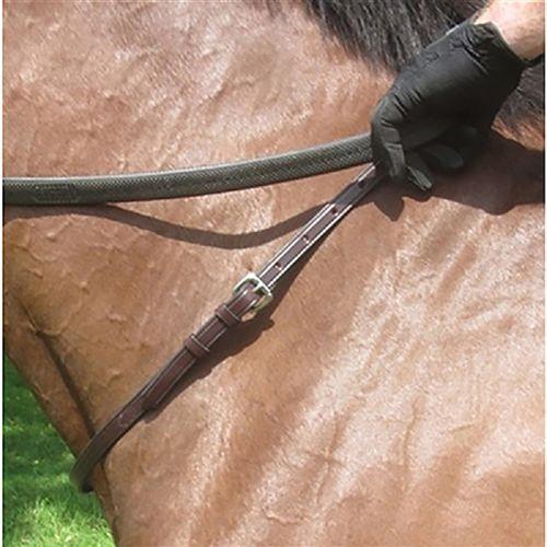 Nunn Finer Leather Neck Strap - Black/Brass