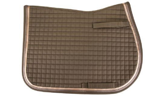 Equine Couture Matte Pony All Purpose Pad - Iron/Metallic Brown/Gold
