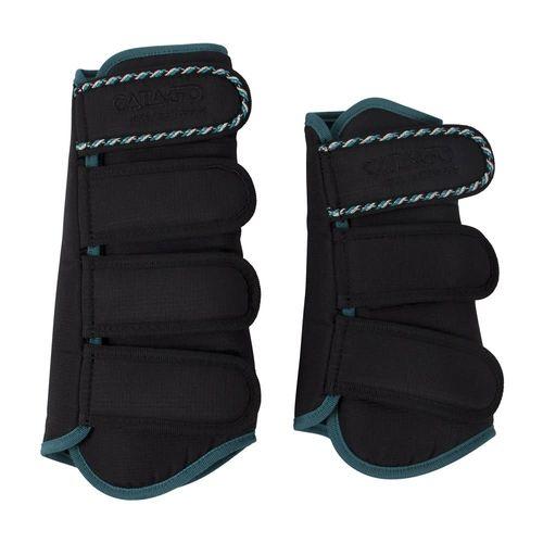 Catago Diamond Dressage Boot Set - Black/Turquoise