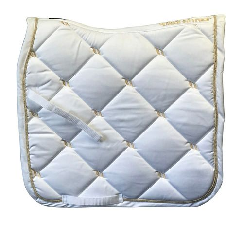 Back on Track Nights Collection Dressage Saddle Pad - White