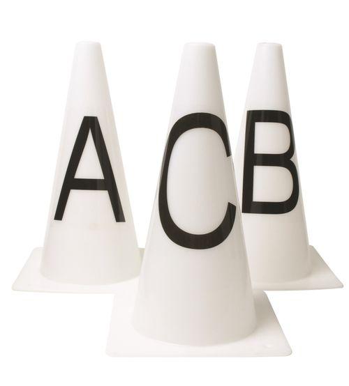 Roma Dressage Cones AFBMCHEK Set Of 8 - White