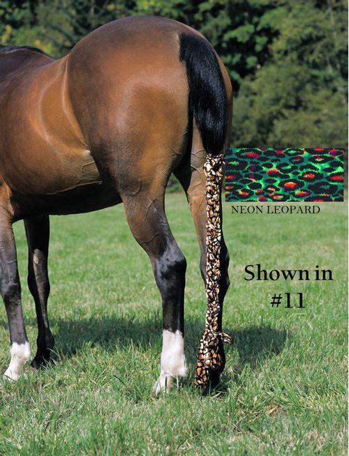 Jammies Three Piece Tail Wrap - Neon Leopard