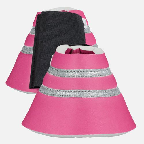 Horze Thun Bell Boots - Shocking Pink
