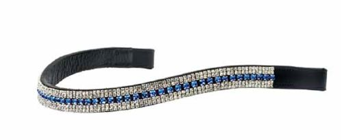 Ovation Delilah Browband - Clear/Blue