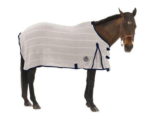 Centaur Irish Knit Sheet - Natural/Navy
