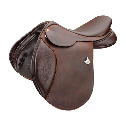 Bates Caprilli Heritage Leather Close Contact Saddle - Classic Brown