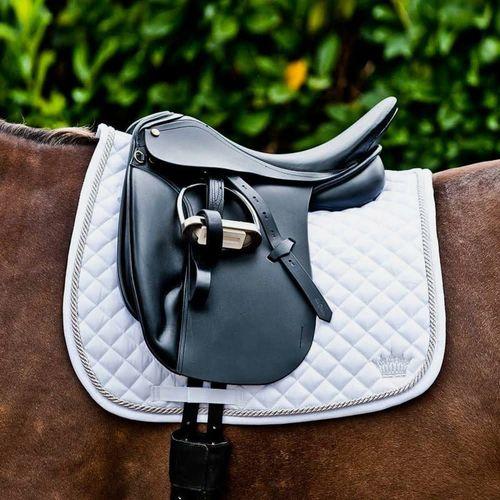 Horze Silver Crown Dressage Saddle Pad - White