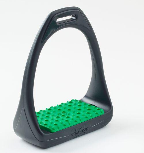 Compositi Reflex 3D Wide Track Stirrups - Green