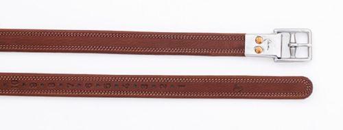 Pessoa Covered Leather Clasp End Leathers - Oakbark