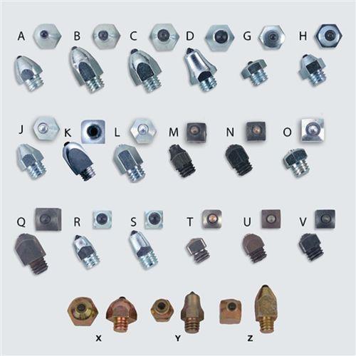 Nunn Finer Small Hexagonal Bullet Studs (A)