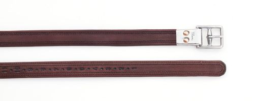 Pessoa Covered Leather Clasp End Leathers - Dark Brown