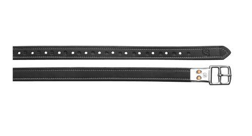 Bates Contrast Stitiching Stirrup Leathers - Classic Black