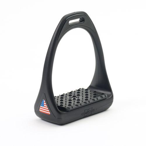 Compositi Reflex 3D USA Wide Stirrups - Black