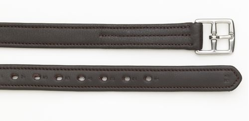 Camelot Covered Stirrup Leathers - Brown