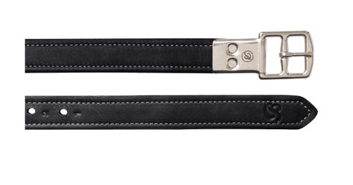 Bates Heritage Leather Stirrup Leathers - Classic Black