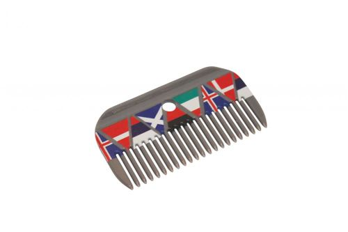 Roma Pattern Mane Comb - National Flags