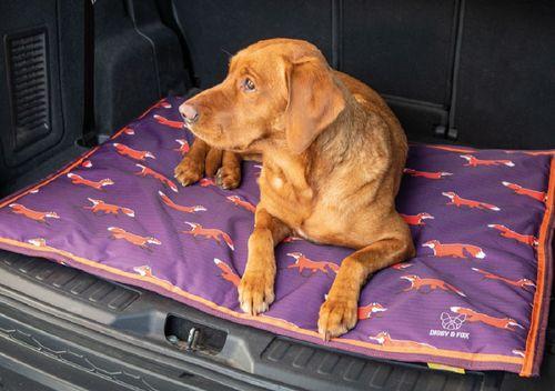 Digby & Fox Waterproof Dog Bed - Plum Fox