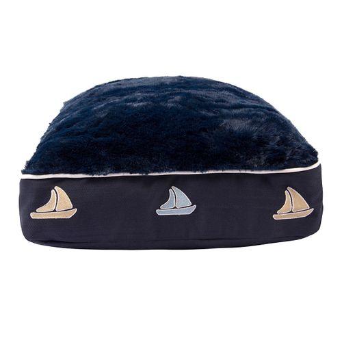 Halo Rectangular Dog Bed - EC Navy/Sailboat