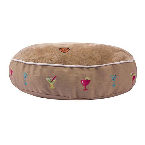 Halo Round Dog Bed - Safari/Martinis