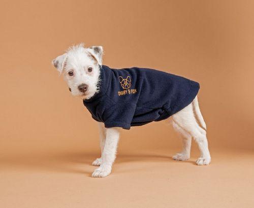 Digby & Fox Dog Fleece - Navy