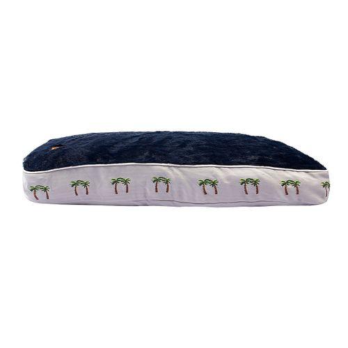 Halo Rectangular Dog Bed - Cashmere Blue/Palm Trees