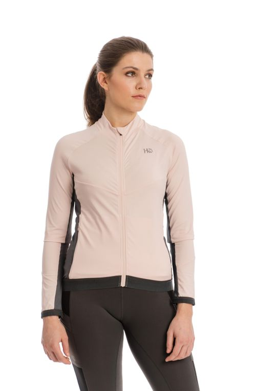 Horseware Women's Lana Technical Full Zip Top - Rosewater/Charcoal