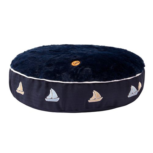 Halo Round Dog Bed - EC Navy/Sailboat